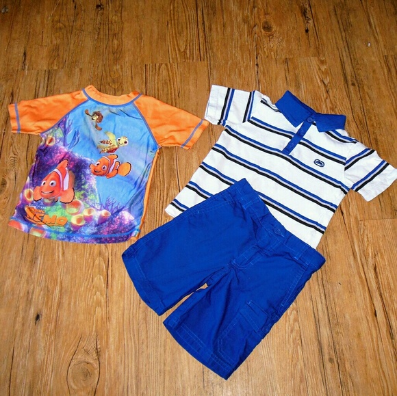 Finding Nemo Toddler Boys Costume Puffer Vest /& Top Set Size 2T 3T 4T